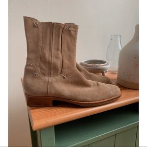 Cole Haan • Suede Leather Pointed Moto Booties